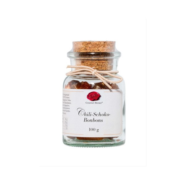 Chili-Schoko-Bonbons 100g im Korkenglas