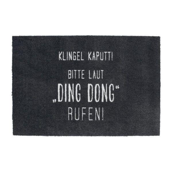 "Fußmatte ""Ding Dong rufen!"""