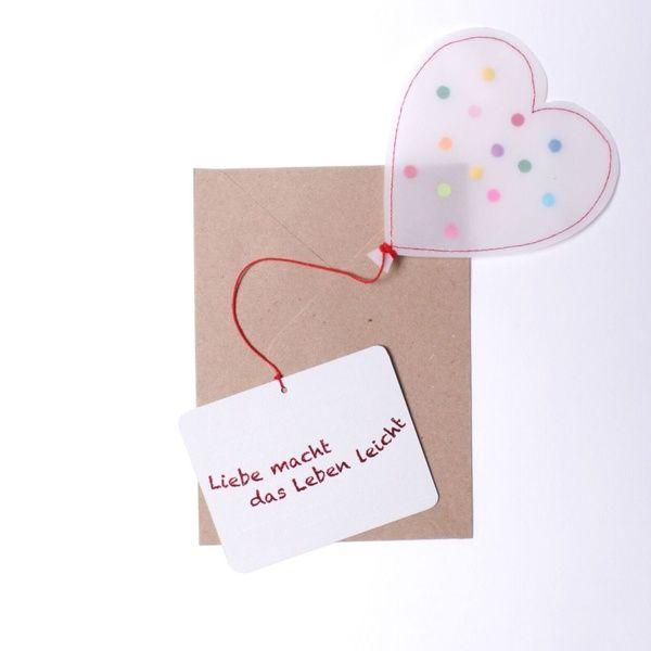 """Herzballonpost """"Liebe macht das Leben leicht"""""""