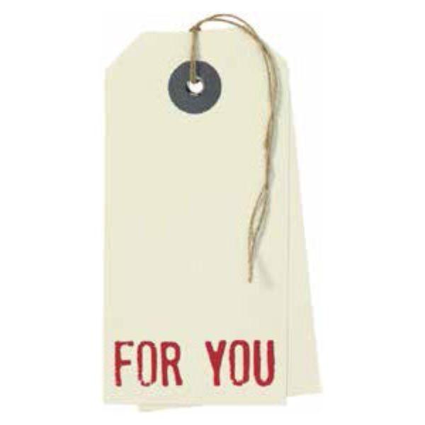 """Hangtag Karte """"For You"""""""