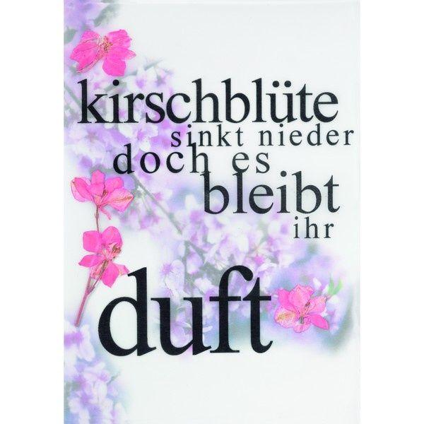 """Räder Blumenpoesiekarte """"Kirschblüte sinkt..."""""""