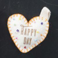 """Filzherzen """"Happy Day"""""""