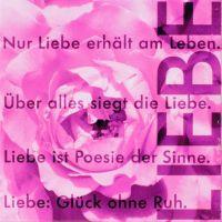 Poesiemagnet Bild -  Nur Liebe erhält...