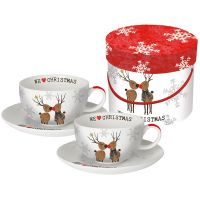 "Cappuccino Tassen Set ""We love Christmas"""