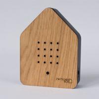 Zwitscherbox Holz -eiche / schwarz-