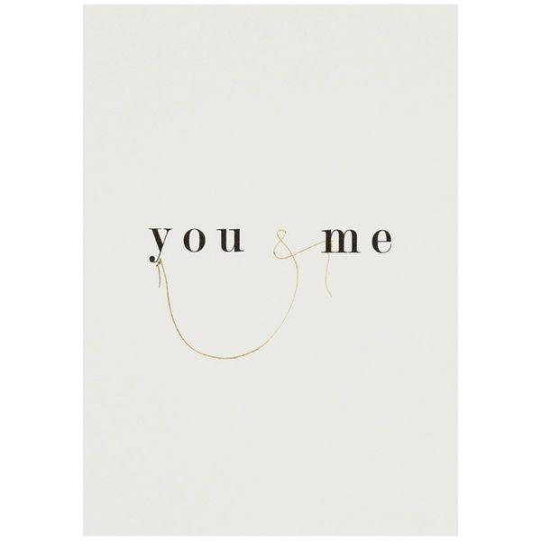 Lieblings Postkarte You & Me