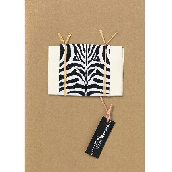 """Geschenkgutscheinkarte """"Zebra"""""""