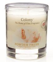 Duftkerze im Glas, klein - Powder Fresh (Baby Puder) 35 h