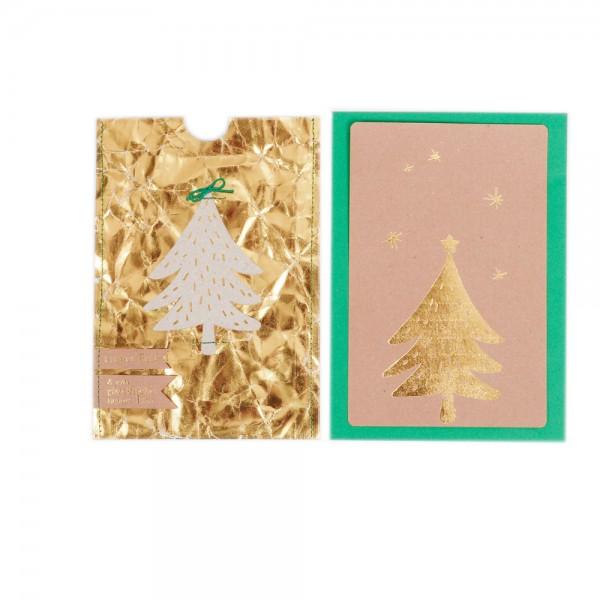 """Gold & Silberkarte """"Baum"""""""