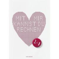 """Buttonkarte """"Von Herzen"""""""