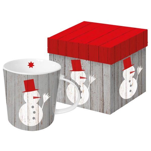"""XXL Henkelbecher """"Snowman on Wood"""""""