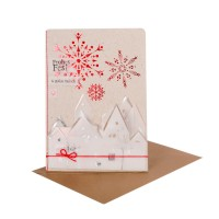 """Winter Silhouetten Karte """"Frohes Fest"""""""