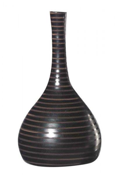 CUBA-Vase, H. 34 cm, Schwarz