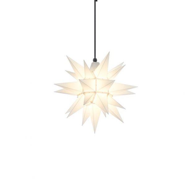 Herrnhuter Stern für Außen, A4 Weiß 40 cm
