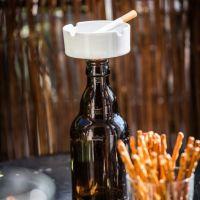 Flaschenaschenbecher + Weinstopper