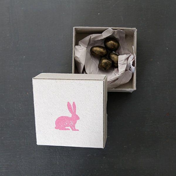 """Frühlingsbotschaftsbox """"Osterhase"""""""