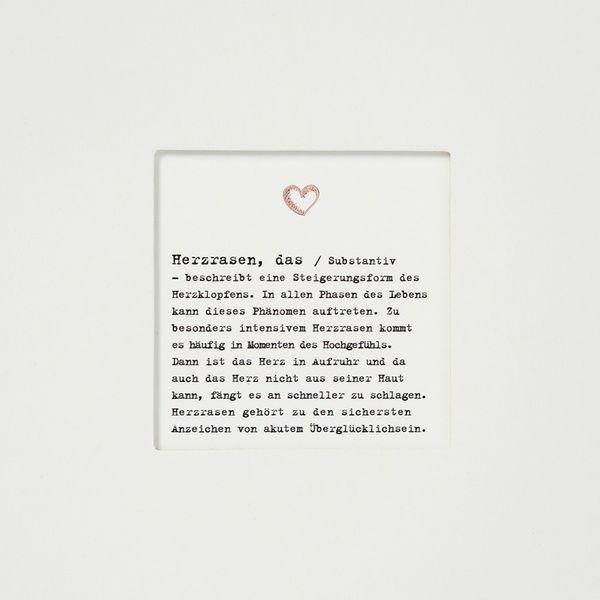 "Passepartoutkarte ""Herzrasen"""