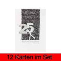 """Life Time Karte """"25 Jubiläum"""" 12er Set"""