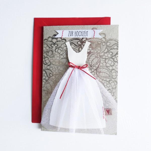 """Hochzeitskleid Karte """"Spitze"""""""