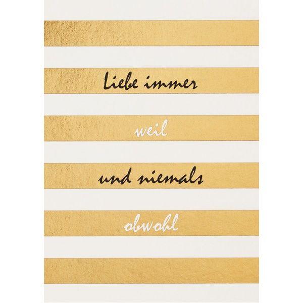 "Fanpostkarte ""Liebe immer weil ..."""