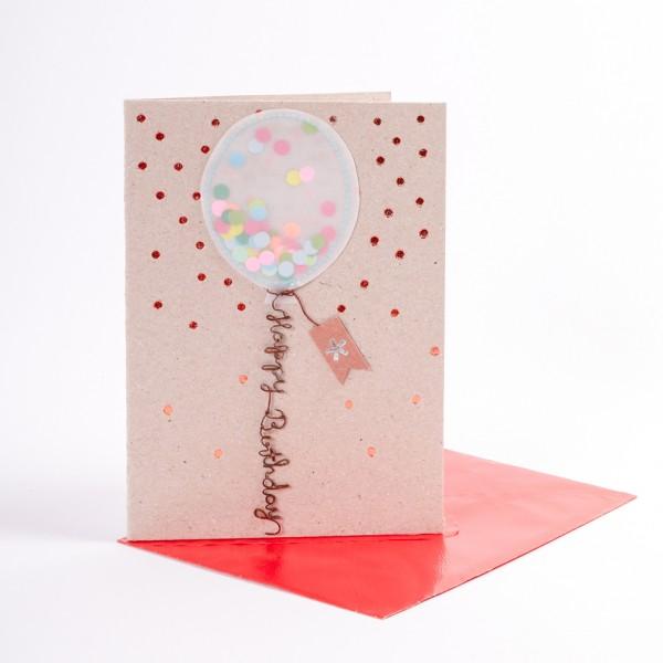 "Luftballon Karte ""Happy Birthday"""