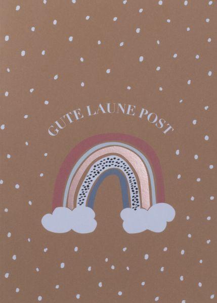 Grußpost Regenbogenkarte - Gute Laune Post