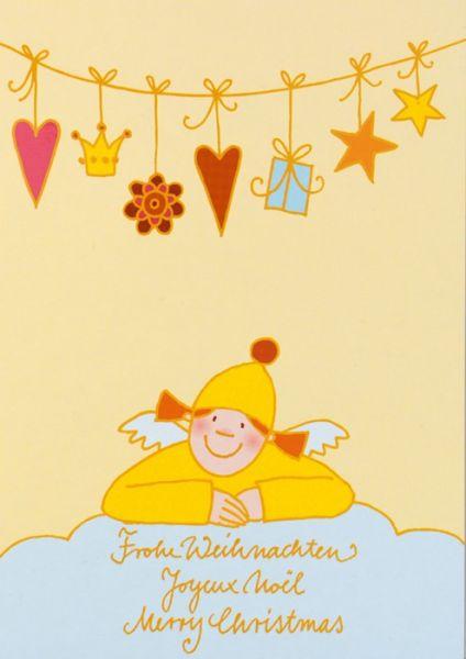 """Himmlische Schwestern - Postkarte """"Geschenkekette"""""""