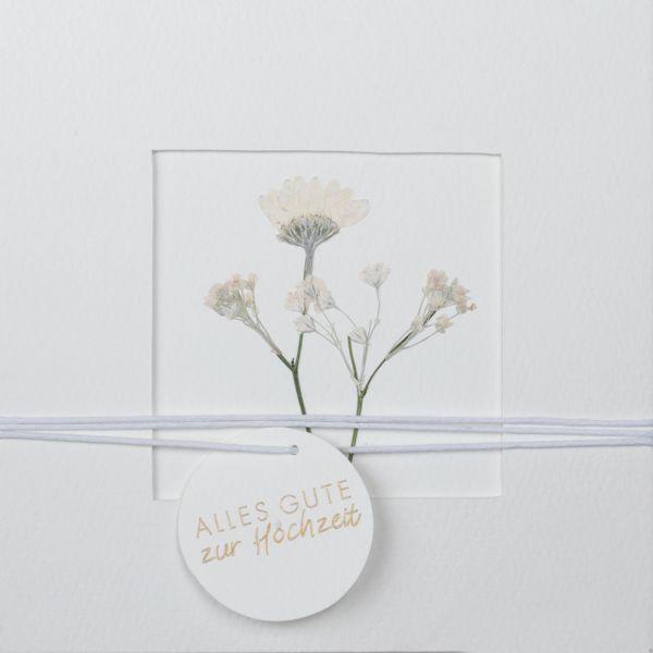 """Blumenpasspartout Karte """"Hochzeit"""""""