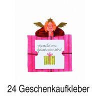 """Geschenkaufkleber Karte - """"Herzlichen Glückwunsch 2"""" 24er Set"""