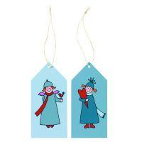 Himmlische Schwestern Geschenkanhänger Blau