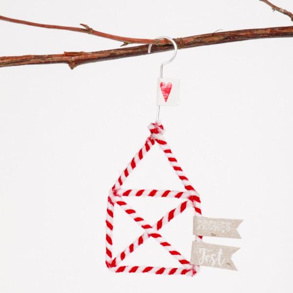 """Mini Winter Wollornament """"Haus"""""""