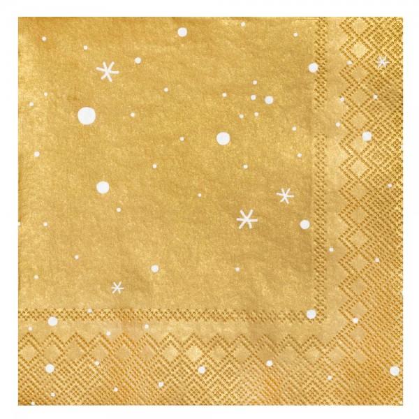 """Serviette """"Sterne"""" gold"""