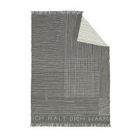 """Zuhause Decke """"Ich halte dich warm - mit Fransen"""" 150 x 200 cm"""