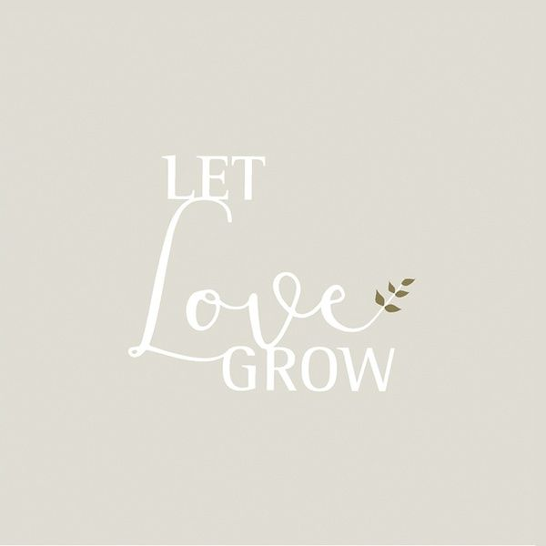 "Cocktailservietten ""Let love grow"""