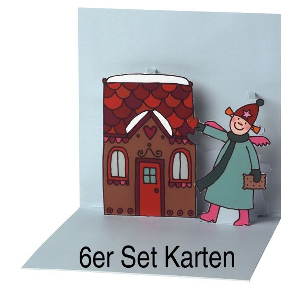 "Himmlische Schwestern Pop-Up Karte ""Motiv 5"" 6er Set"