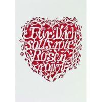 """Hochzeitsschriftkarte """"Für Dich soll's rote Rosen regnen"""""""