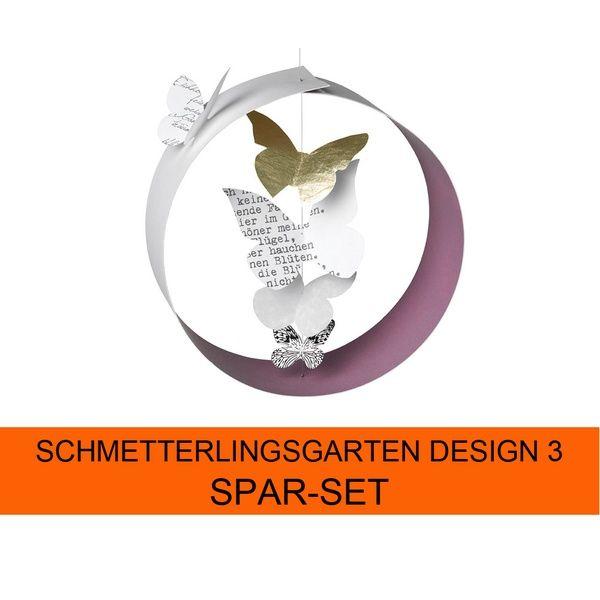 Schmetterlingsgarten Design 3 4er Set