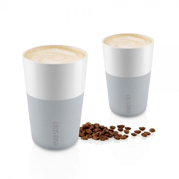 """2 Café Latte-Becher """"Marble grey"""""""
