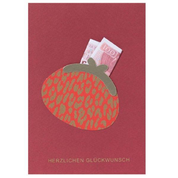"""Moneypenny Karte """"Herzlichen Glückwunsch"""" Gutschein"""