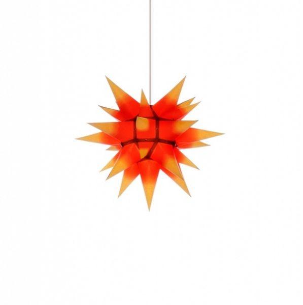 Herrnhuter Stern für Innen, i4 Roter Kern-Gelb 40 cm