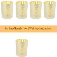 """Glanzlicht """"Weihnachtszeit"""", Gold 5er Set"""