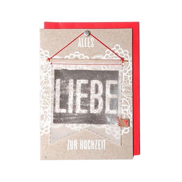 """Wimpel Karte """"Alles Liebe zur Hochzeit"""""""