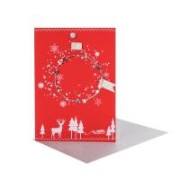 "Winter Kranzkarte ""Sterne"""