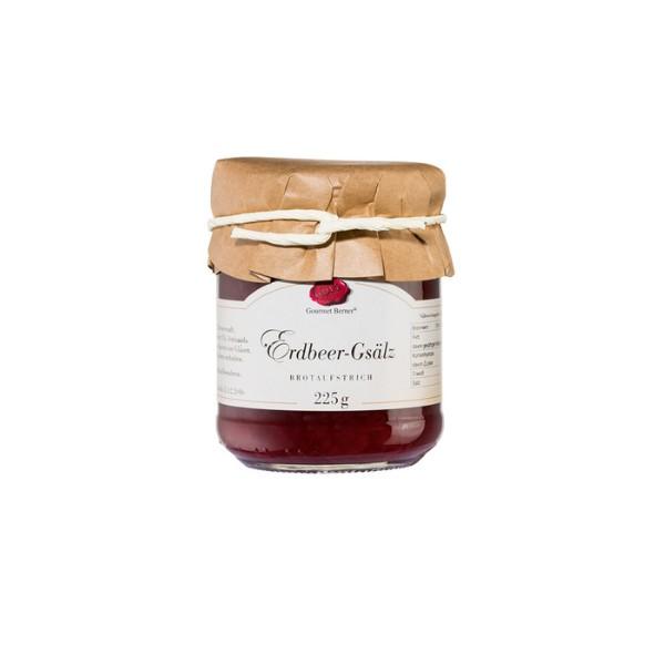 Erdbeer Gsälz im 225g Glas