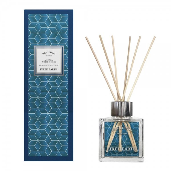 FIRED EARTH Collection - Reed Diffuser Assam & White Cedar - 100 ml