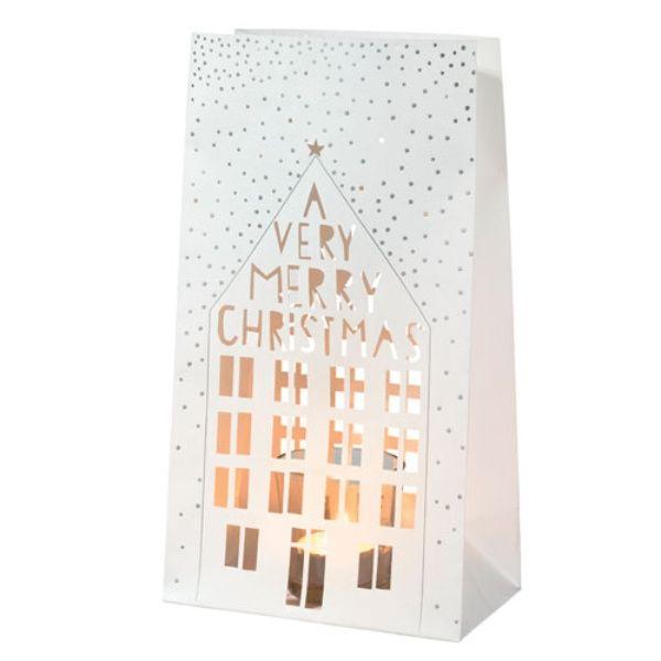 """Winterzeit Lichttüte Set """"A very merry christmas"""""""