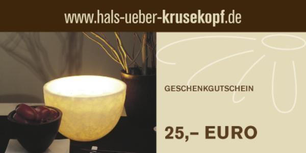 25,00 EUR Gutschein