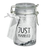 """Geschenkglas """"Just Married"""""""