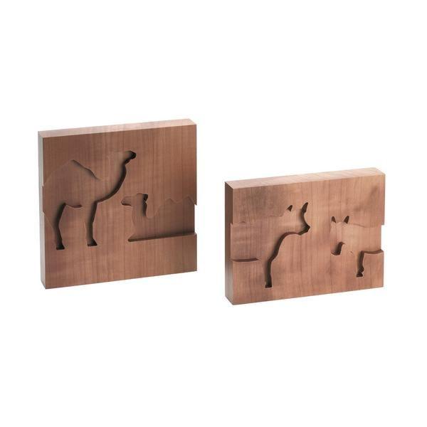 Reliefs Kamele-Ochs-Esel
