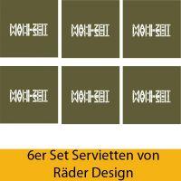 "Serviettenkollektion ""Mahlzeit"" 6er Set"
